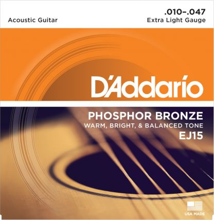 D'Addario Acoustic Guitar String EJ15 Front