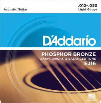 D'Addario Acoustic Guitar String EJ16 Front