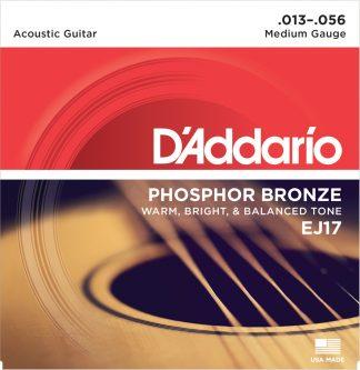 D'Addario Acoustic Guitar String EJ17 Front
