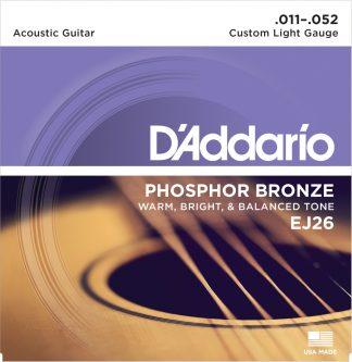 D'Addario Acoustic Guitar String EJ26 Front