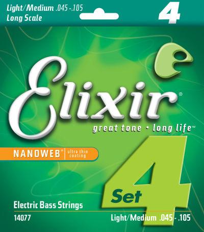 Elixir 14077 Bass String Pack Front