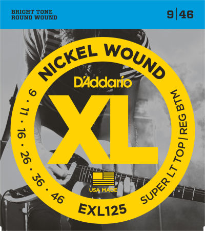 D'Addario Electric Guitar String EXL125 Front