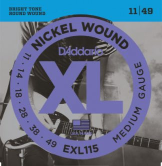 D'Addario Electric Guitar Strings EXL115 Front