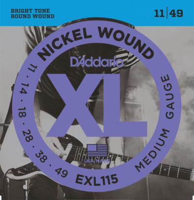 D'Addario Electric Guitar Strings EXL115 Front