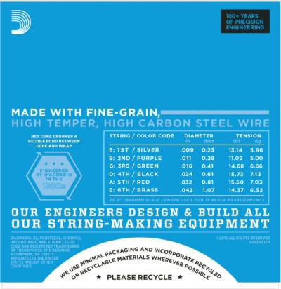 D'Addario Electric Guitar Strings EXL120 Detail 2