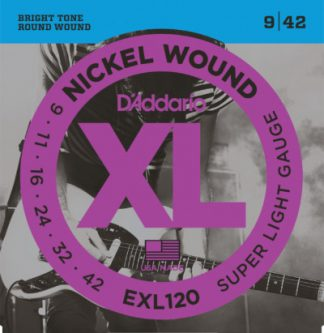 D'Addario Electric Guitar Strings EXL120 Front