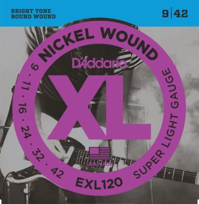 D'Addario Electric Guitar Strings EXL120 Front