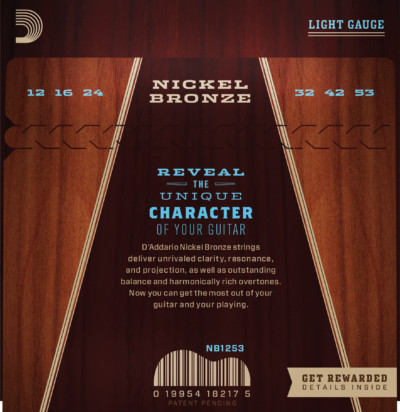 D'Addario Nickle Bronze Acoustic NB1253 Detail 1