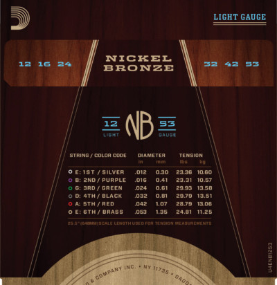 D'Addario Nickle Bronze Acoustic NB1253 Detail 2